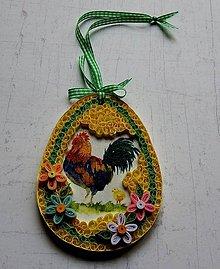 Dekorácie - Veľkonočné vajíčko - kohútik 1 - 9155282_