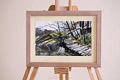 Obrazy - Akvarel Plitvické jazerá-originál - 9153924_