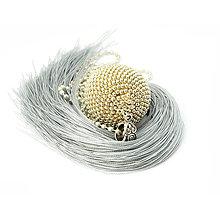 Náhrdelníky - TASSEL strieborný - dlhý náhrdelník so strapcom - 9154621_