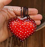 Náhrdelníky - Big Heart dots / 3D - 9157144_