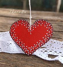 Dekorácie - Srdce v krajkách - 9157244_