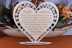 Darčeky pre svadobčanov - Poďakovanie Rodičom srdce vyrezávané 8 - 9153755_