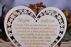 Darčeky pre svadobčanov - Poďakovanie Rodičom srdce vyrezávané 8 - 9153757_