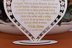 Darčeky pre svadobčanov - Poďakovanie Rodičom srdce vyrezávané 8 - 9153758_