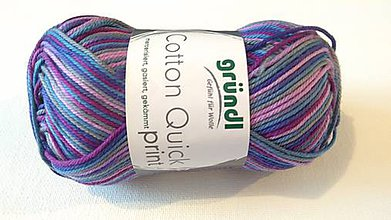 Galantéria - Grundl - Cotton quick print - fialová - 9155772_