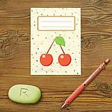 Papiernictvo - Sladká stracciatella poznámkovník (ovocie) - 9153788_