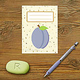 Papiernictvo - Sladká stracciatella poznámkovník (ovocie) (slivka) - 9154682_