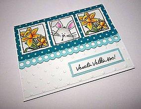 Papiernictvo - Veľkonočný zajko - pohľadnica - 9159119_