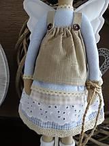 Bábiky - Modrá anjelka so psíkom - 9162890_