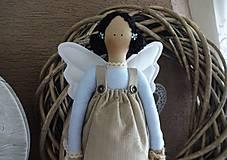 Bábiky - Modrá anjelka so psíkom - 9162891_