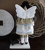 Bábiky - Modrá anjelka so psíkom - 9162894_