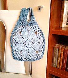 Nákupné tašky - Sieťovka Kvet Modrý - 9159261_