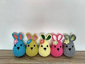 Dekorácie - Háčkované zajačiky - 9160079_