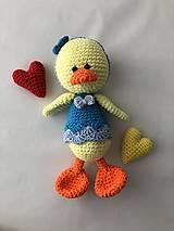 Hračky - Háčkovaná hračka Kačička/ Crochet Duck Amigurumi - 9161918_
