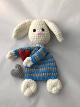 Hračky - Háčkovaná maznáčik Zajko/ Crochet Bunny Lovey - 9161935_
