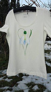 Tričká - tričko maľované - snežienka - 9160462_