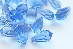 Korálky - brúsená sklenená slza 12x17 mm/ 1ks - 9160909_