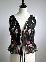 Topy - vesta s výšivanými kvetmi - 9161877_