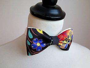 Doplnky - pánsky motýlik Farebný ornament - 9162062_