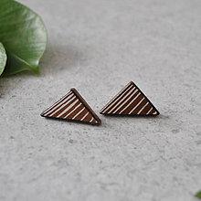 Náušnice - triangle. - 9161025_