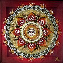Obrazy - Mandala...Plameň lásky - 9160742_