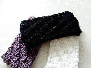 Ozdoby do vlasov - ČIERNA čelenka s lurexovým vláknom - 9160556_