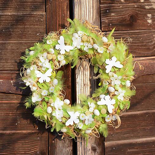 6670d13fbf Zelený veľkonočný veniec na dvere   Hydrangea - SAShE.sk - Handmade ...