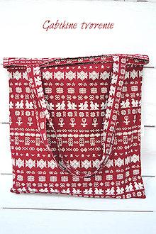 Nákupné tašky - Nákupná taška bordová - 9161719_