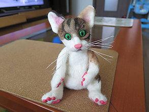 Dekorácie - Plstená mačka - 9161532_