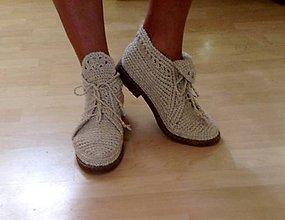 Obuv - ľanové topánky, pohodlne, ručne vyrábané - 9159069_