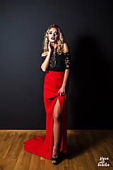 Spoločenská sukňa z hrubého šifónu rôzne farby