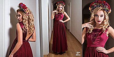 Šaty - Spoločenské šaty s V výstrihami rôzne farby - 9159105_