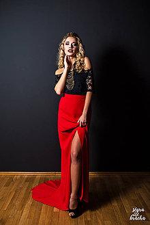 Sukne - Spoločenská sukňa z hrubého šifónu rôzne farby - 9159239_