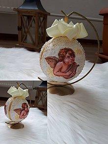 Dekorácie - Polystyrenova gula na stojane - 9161706_
