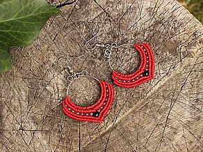 Náušnice - Macramé India - 9159499_