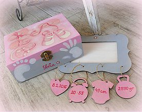 Detské doplnky - Rámik na fotku s údajmi o narodení dieťatka :) - 9159872_