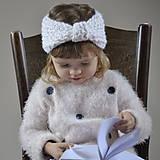 Detské čiapky - čelenka...biela - 9162736_