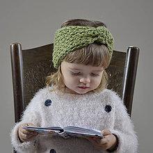 Detské čiapky - čelenka...zelená - 9162690_