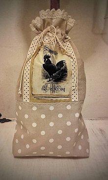 Úžitkový textil - Bavlněno-lněný sáček Le Coq - 9162244_