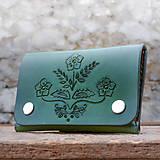 Peňaženky - Kožená peňaženka - FOLK - 9163381_