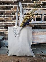 Nákupné tašky - Ľanová nákupná taška Natural - 9162176_
