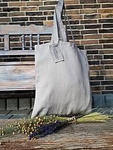 Nákupné tašky - Ľanová nákupná taška Natural - 9162179_