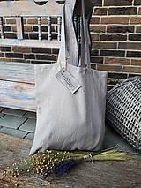 Nákupné tašky - Ľanová nákupná taška Natural - 9162184_