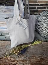 Nákupné tašky - Ľanová nákupná taška Natural - 9162186_