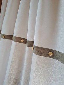 Úžitkový textil - Ľanový záves Simply White - 9162149_
