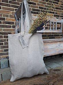 Nákupné tašky - Ľanová nákupná taška Natural - 9162177_