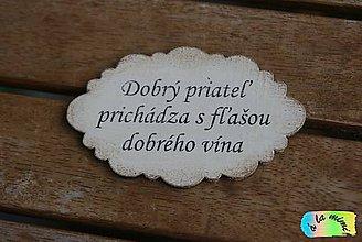 Tabuľky - Tabuľka na dvere Dobrý priateľ - 9165458_
