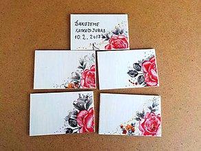 Darčeky pre svadobčanov - Magnetky, menovky (Magnetky ružičky) - 9167729_