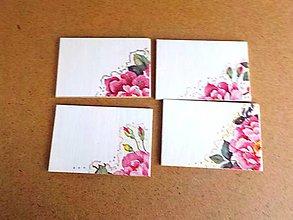 Darčeky pre svadobčanov - Magnetky, menovky (Magnetky ruže) - 9167745_
