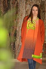 IDEM ZA JEHO ŽIAROU -originálne šaty z bavlneného úpletu.